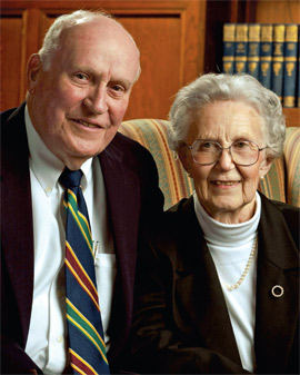 William and Katherine Ginder have contributed $1 million to the Carey Business School.