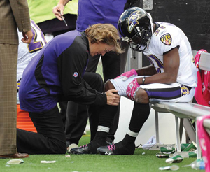 Leigh Ann Curl is the only woman in the NFL to hold the position of head team orthopedic surgeon. Photo: Phil Hoffman